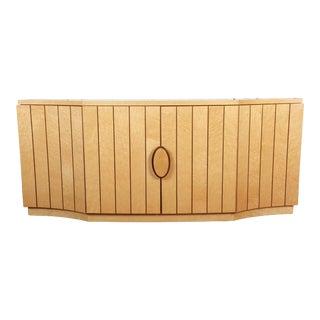 Italian Modern Art Deco Birdseye Maple Sideboard Credenza or Bar Cabinet For Sale