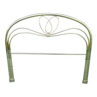 20th Century Art Deco Full Size Brass Headboard For Sale