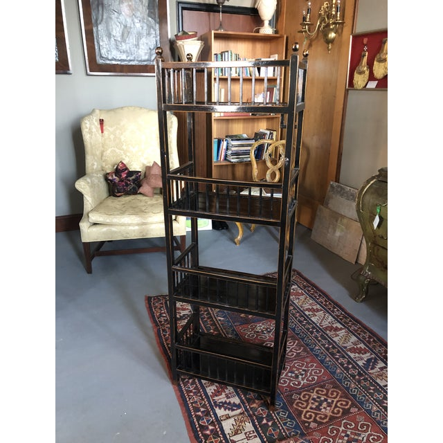 Asian 20th Century Asian Inspired Chippendale Style Etagere For Sale - Image 3 of 12