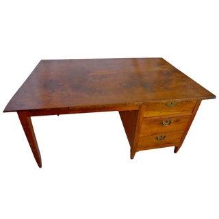19th Century French XIX Walnut Writing Desk For Sale