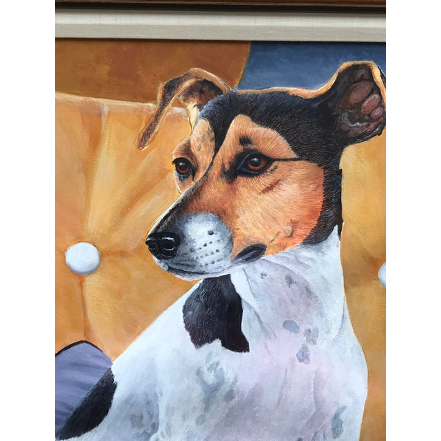 Figurative 20th Century Figurative Original Painting of a Jack Russel Terrier Dog For Sale - Image 3 of 6