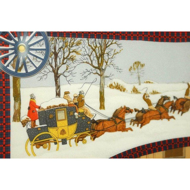 "Hermès Framed Hermes Scarf ""Bull and Mouth Regent's Circus Piccadilly"" For Sale - Image 4 of 10"