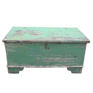 Antique English Blanket Box in Original Paint