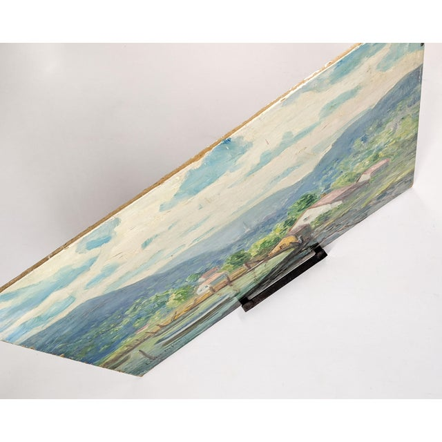 Mid 20th Century Vintage Oil Landscape Painting Signed by Artist Louise M. Kemp For Sale - Image 5 of 6