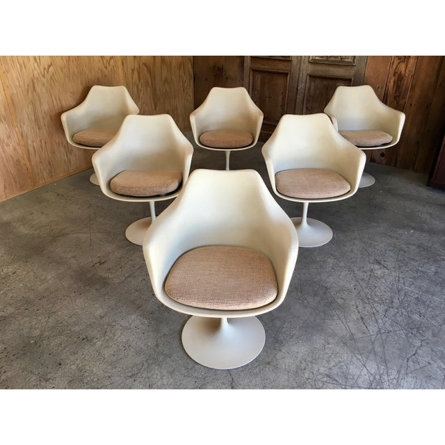 Vintage Mid Century Eero Saarinen for Knoll Dining Chairs- Set of 6 For Sale - Image 10 of 12