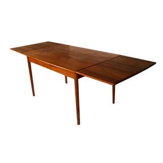 Danish Modern Teak Extendable Dining Table For Sale