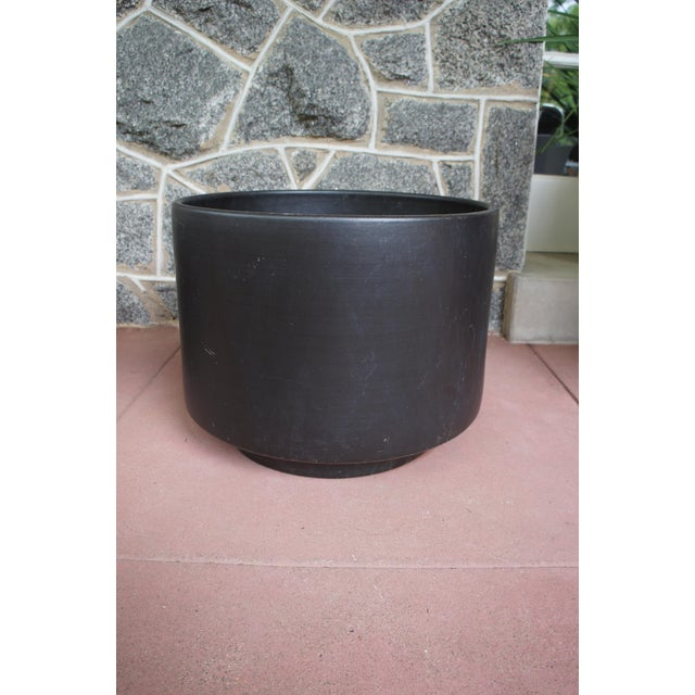 Gainey Style Graphite Gray Planters - A Pair - Image 4 of 9