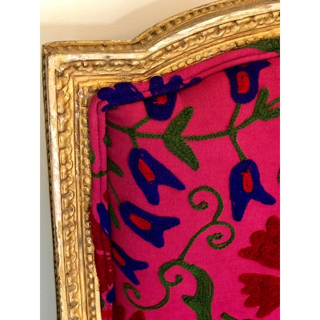 Blue French Boho Settee For Sale - Image 8 of 13