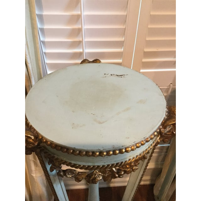 Antique French Painted Torcheres - A Pair - Image 5 of 8