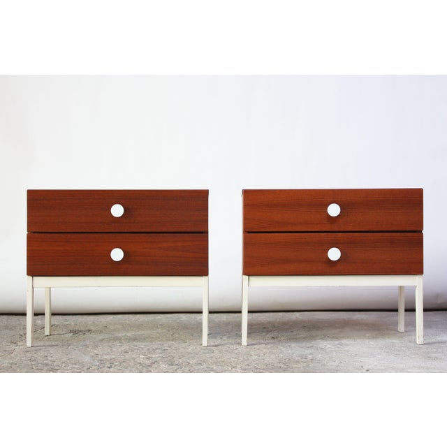 Pair of Danish Modern Teak 2-Drawer Nightstands - Image 9 of 9
