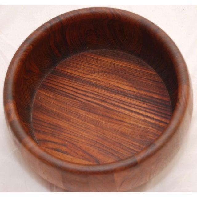 Mid-Century Modern Teak Salad Bowl - Image 5 of 11