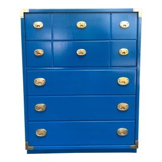 Vintage Thomasville Campaign Style Chest of Drawers For Sale