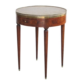 French Directoire Circular Bouillotte Table With Fossilized Stone Top For Sale