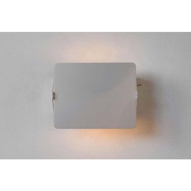 Silver Charlotte Perriand 'Applique á Volet Pivotant' Wall Light in Natural Aluminum - a Pair For Sale - Image 8 of 11