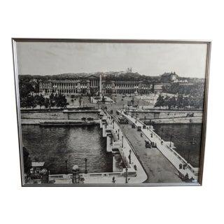 """Large Antique """"Place De La Concorde, Paris"""" Photograph For Sale"""
