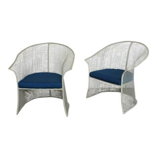 Vintage Mid-Century Woodard Garden Chairs- A Pair For Sale