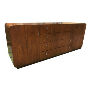 Mid Century Modern Milo Baughman for Founders Walnut Credenza For Sale