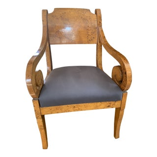 Early 19th Century Russian Biedermeier Arm Chair For Sale