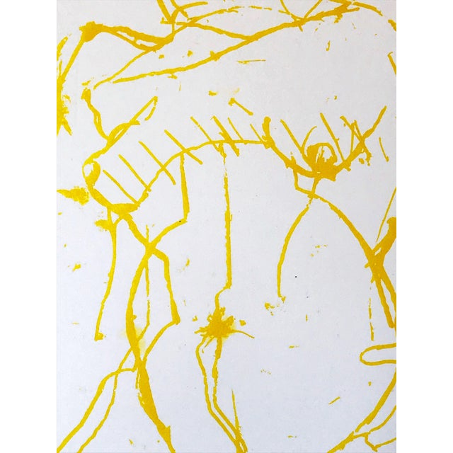 Mid Century Modernist Abstract Figural Nude Lithograph by Gerard Haggerty 1967 For Sale - Image 4 of 6