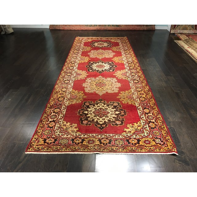 Turkish Oushak Runner - 5' x 13' - Image 2 of 10