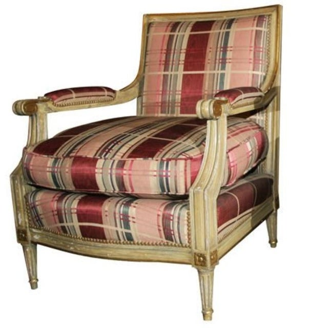 Beige Fabulous French Bergere Chair by Jansen For Sale - Image 8 of 9