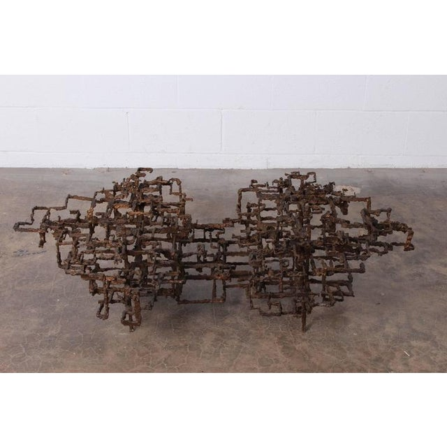 Bronze Brutalist Coffee Table by Daniel Gluck - Image 7 of 10