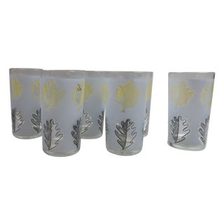 Mid-Century Frosted Libbey Glasses - Set of 6