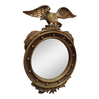 National Federal Round Eagle Top Wall Mirror For Sale