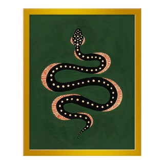 "Small ""Apple the Snake"" Print by Willa Heart, 16"" X 20"""