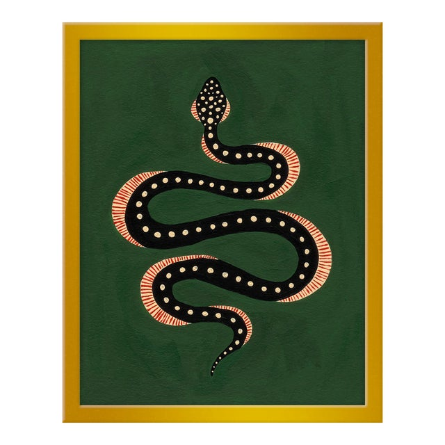 "Small ""Apple the Snake"" Print by Willa Heart, 16"" X 20"" For Sale"