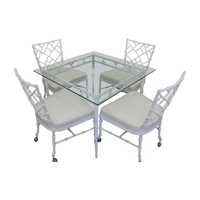 White Iron Patio Set - Image 1 of 4