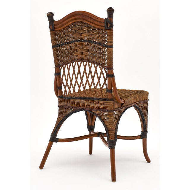 English Wicker Chairs and Table Set For Sale In Austin - Image 6 of 10