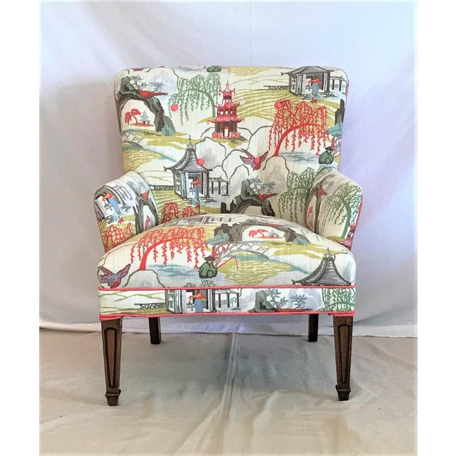 Mid Century Robert Allen Chinoiserie Armchair For Sale - Image 6 of 6