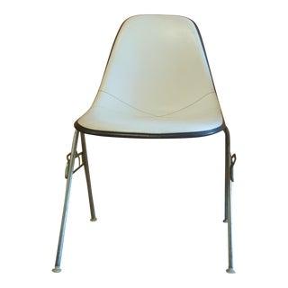 Eames Dss Upholsterd Herman Miller Molded Fiberglass Stacking Chair For Sale