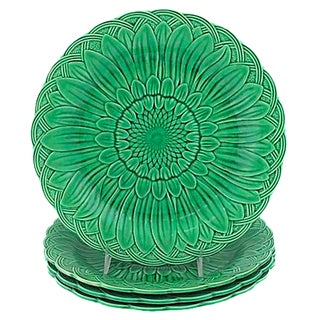 Wedgwood Majolica Sunflower Plates - Set of 4 For Sale