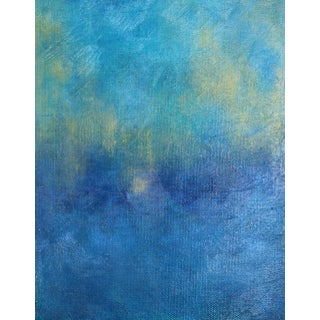 """""""Seaglaze"""" Contemporary Abstract Acrylic Painting For Sale"""