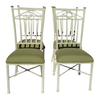Kessler Memphis Style Outdoor Chairs, Set of 4 For Sale
