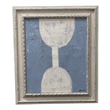 Image of Late 20th Century Abstract Mixed-Media Painting, Framed For Sale