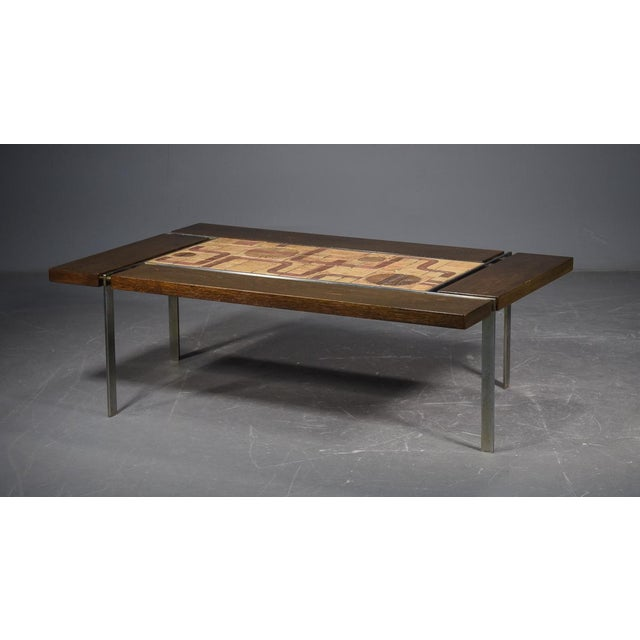 Svend Aage Jessen & Sejer Pottery for Ryesberg Mid-Century Coffee Table For Sale In Boston - Image 6 of 6