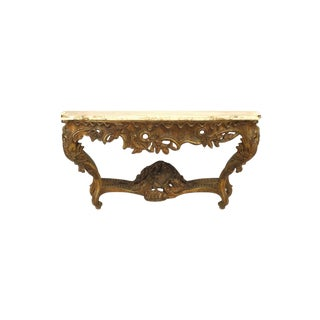 French Louis XV Style 'Modern' Giltwood Console Table For Sale