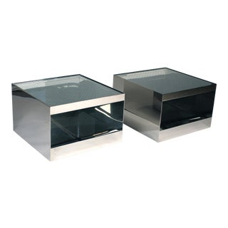 Pair of Low Rolling Tables by Joseph d'Urso for Knoll International For Sale