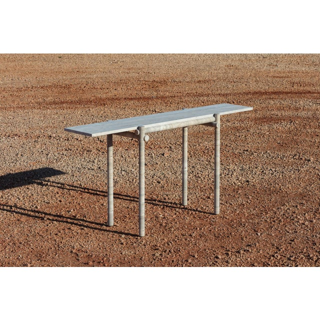 Original Ocean Travertine Console by Clement Brazille For Sale - Image 10 of 13