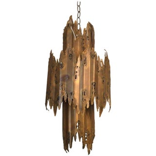 Tom Greene Brutalist Chandelier For Sale