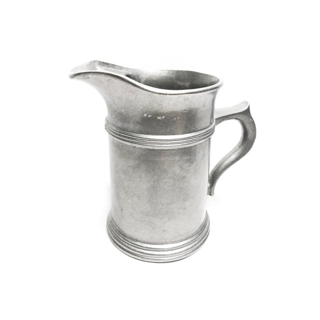 Large Vintage Solid Pewter Wilton Armetale Pitcher For Sale - Image 4 of 4