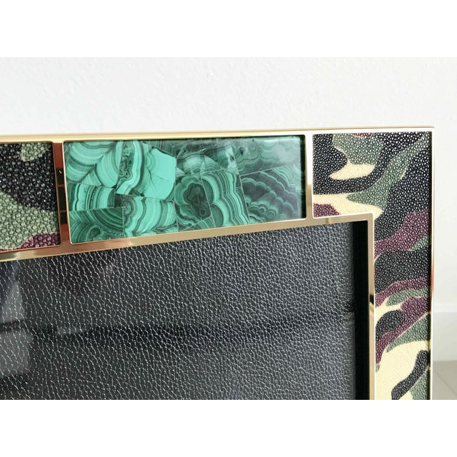 Camoflauge Shagreen Photo Frames For Sale In Palm Springs - Image 6 of 10