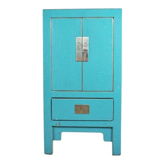 Chinese Turquoise Painted Cabinet