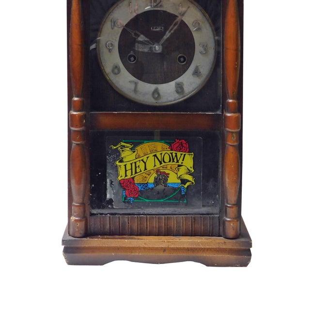 Vintage Old Shanghai European Building Style Pendulum Swing Clock For Sale In San Francisco - Image 6 of 8