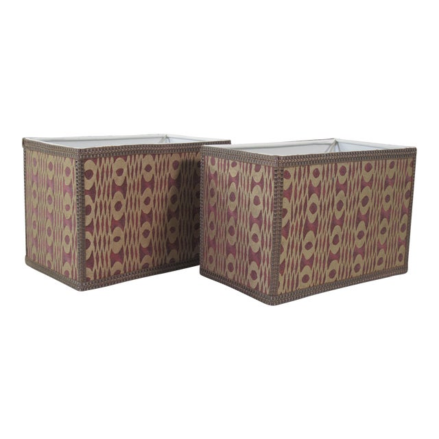 Unita' Fortuny Lampshades - a Pair For Sale