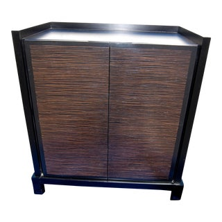 Crate & Barrel Bar Storage Cabinet