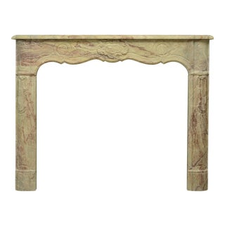 Colorful and Unique French Marble Régence Fireplace Mantel For Sale